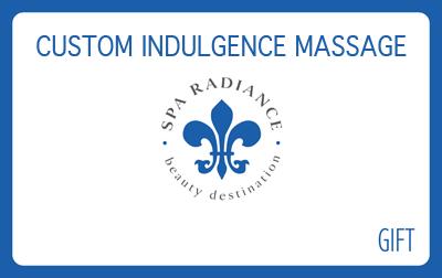 Spa Radiance Custom Indulgence Massage Gift Card